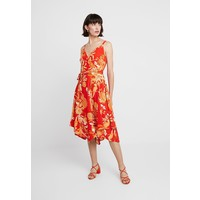 Dorothy Perkins STRAPPY PRINT HANKY HEM Sukienka letnia red DP521C1YV