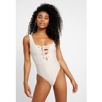 NA-KD LACE UP SWIMSUIT Kostium kąpielowy off white NAA81G004