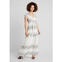 Vila VICAMIL DRESS Długa sukienka cloud dancer/grey print V1021C1FZ