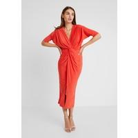 Club L London PLUNGE FRONT TWIST KNOT DRESS Długa sukienka orange CLK21C030