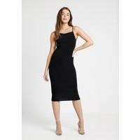 Missguided SLINKY STRAPPY LOW BACK MIDI DRESS Sukienka z dżerseju black M0Q21C15P