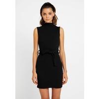 Missguided HIGH NECK TIE WAIST MINI DRESS Sukienka etui black M0Q21C18W