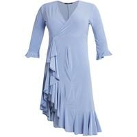 Missguided Plus FRILL HEM MIDI DRESS Sukienka z dżerseju blue M0U21C08I