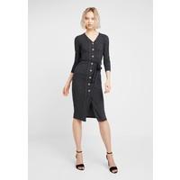 Miss Selfridge BUTTON BELTED MIDI DRESS Sukienka z dżerseju grey MF921C0NF