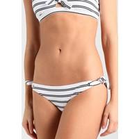 Seafolly INKASTRIPE HIPSTER TIE SIDE Dół od bikini white S1981I016