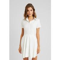 Missguided BUTTON DOWN SKATER DRESS Sukienka koszulowa white M0Q21C1AN