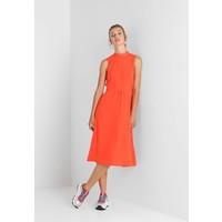 Warehouse TIE NECK MIDI DRESS Sukienka letnia orange WA221C0EM