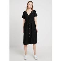 Cotton On CAMILA BUTTON THROUGH MIDI DRESS Sukienka koszulowa black C1Q21C002