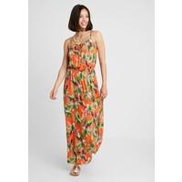 Dorothy Perkins TROPIC TIE DRESS Długa sukienka orange DP581H01O