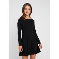 Missguided Petite LONG SLEVE SCOOP BACK SKATER DRESS 2 PACK Sukienka z dżerseju black/nude/white M0V21C073