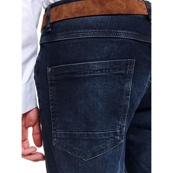 Top Secret spodnie denim z lekkim opraniem dopasowane