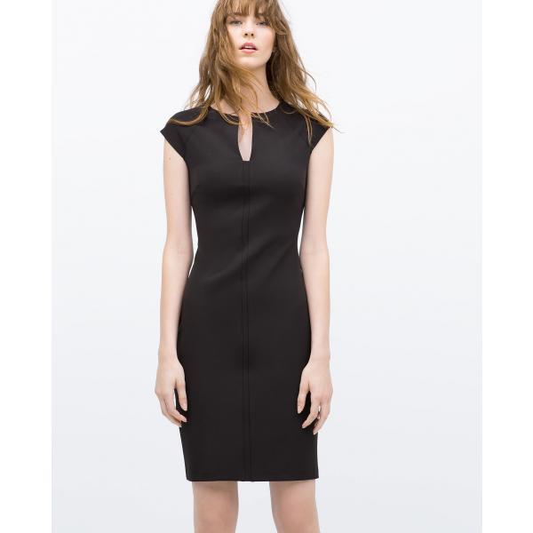 zara woman sukienka ołówkowa czarna