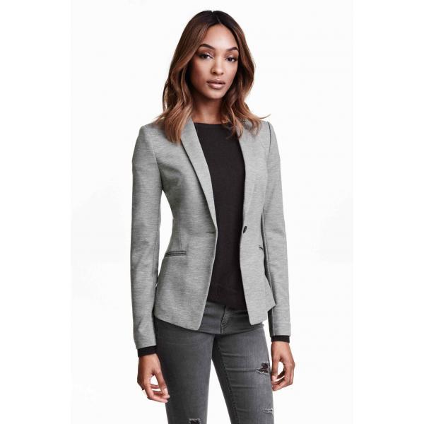 00809fbbee6fd H&M Jersey jacket 0245151003 Grey - UbierzmySie.pl