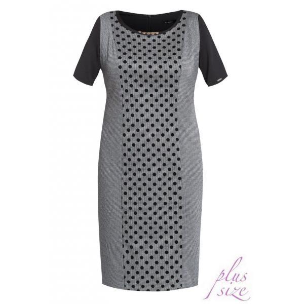 b953fdc6c3 Monnari Elegancka sukienka w groszki DRE3700 - UbierzmySie.pl
