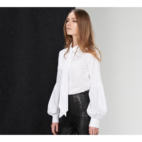 Reserved Biała koszula z bufiastymi rękawami CONCEPT OU438