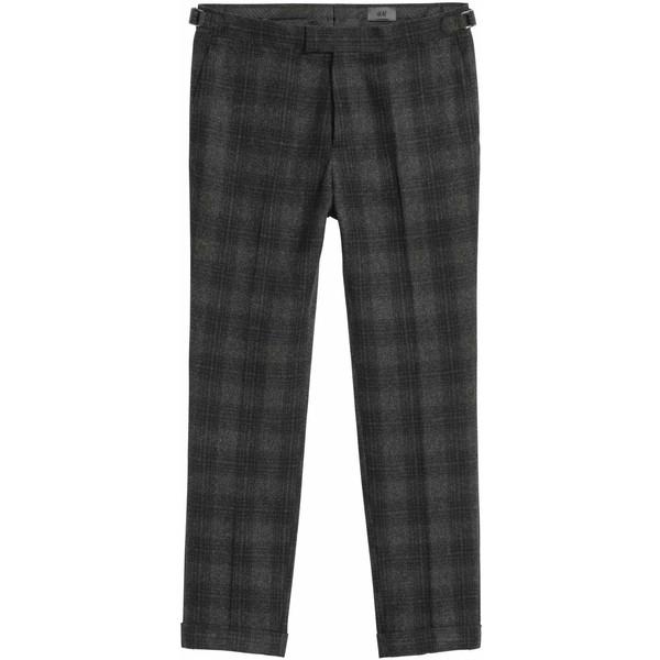 f2a9f477841d4 H&M Spodnie garniturowe Slim fit 0517360001 Szary/Czarna krata ...