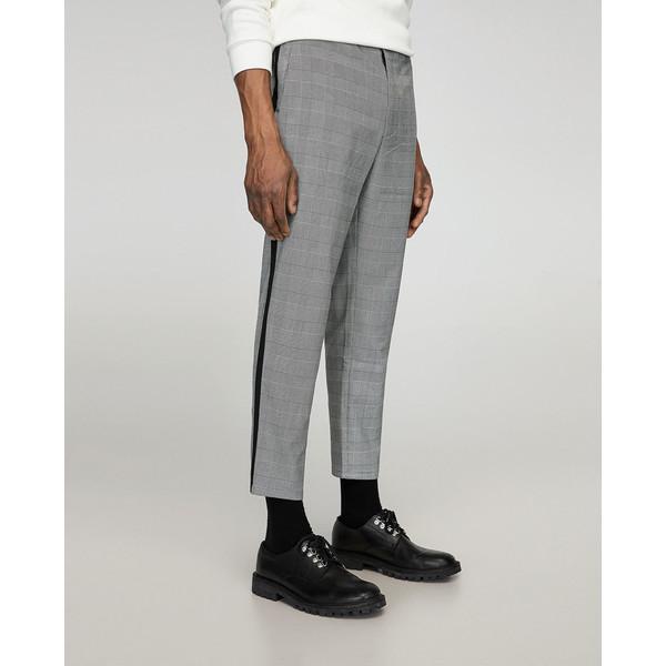 zara szare spodnie z lampasami