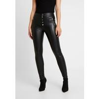 ONLY ONLSIGGA BUTTON PANT Spodnie materiałowe black ON321A11W