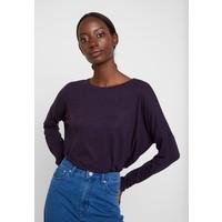Opus SILKINA Bluzka z długim rękawem dark violet PC721D0AI