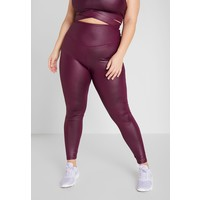 South Beach CURVE WETLOOK HIGHWAIST LEGGING Legginsy burgundy SOH41E012