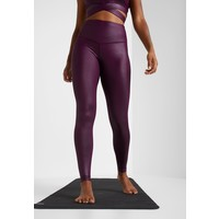 South Beach WETLOOK HIGHWAIST Legginsy burgundy SOH41E00V