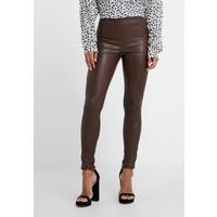 STUDIO ID LENA Spodnie skórzane brown STX21A000