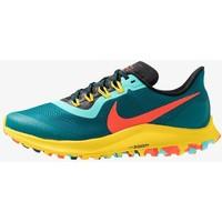 Nike Performance AIR ZOOM PEGASUS 36 TRAIL Obuwie do biegania Szlak geode teal/bright crimson/black/chrome yellow/aurora green N1241A0T6