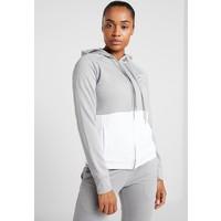 adidas Performance LIN HOOD Dres medium grey heather/white AD541K029