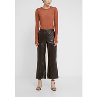 By Malene Birger VERCANO Spodnie skórzane warm brown BY121A04F