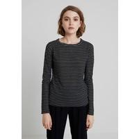 AllSaints ESME STRIPE Bluzka z długim rękawem black/ecru white A0Q21D05X