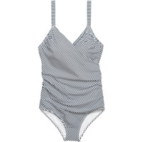 H&M H&M+ Kostium kąpielowy 0551379007 Biały/Paski