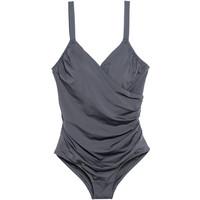 H&M H&M+ Kostium kąpielowy 0551379007 Ciemnoszary