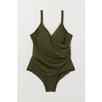 H&M H&M+ Kostium kąpielowy 0551379007 Zieleń khaki