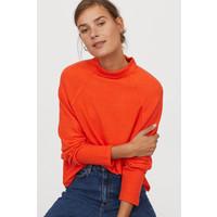 H&M Top ze stójką 0797394009 Pomarańczowy