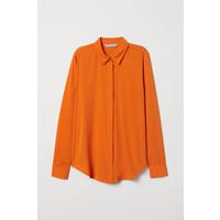 H&M Bluzka z długim rękawem 0695632002 Pomarańczowy