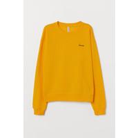 H&M Bluza 0677930070 Żółty/Love