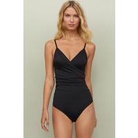 H&M Modelujący kostium kąpielowy 0188183015 Czarny
