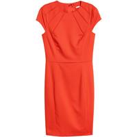 H&M Krótka sukienka 0577512007 Pomarańczowy
