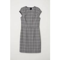 H&M Krótka sukienka 0577512007 Beżowy/Krata