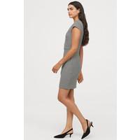 H&M Krótka sukienka 0577512007 Biały/Pepitka