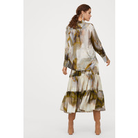 H&M Wzorzysta spódnica z jedwabiem 0816388001 Kremowy/Wzór