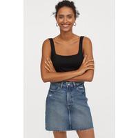 H&M Spódnica dżinsowa 0688105008 Ciemnoniebieski denim