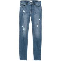 H&M Spodnie Skinny Fit 0562245006 Niebieski denim/Trashed