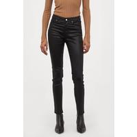 H&M Spodnie Skinny Fit 0562245006 Czarny/Powłoka