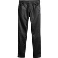 H&M Spodnie Skinny Fit 0562245006 Czarny/Powlekany