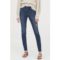H&M Spodnie Skinny Fit 0562245006 Ciemnoniebieski denim/Trashed