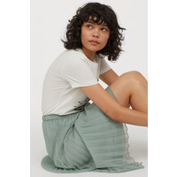 H&M Plisowana spódnica 0719523005 Jasnoturkusowy
