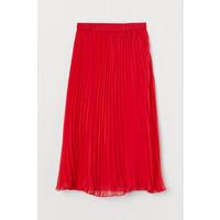 H&M Plisowana spódnica 0719523005 Czerwony