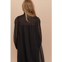 H&M Sukienka z marszczeniem 0806261001 Czarny