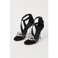 H&M Zamszowe sandały 0806910001 Czarny